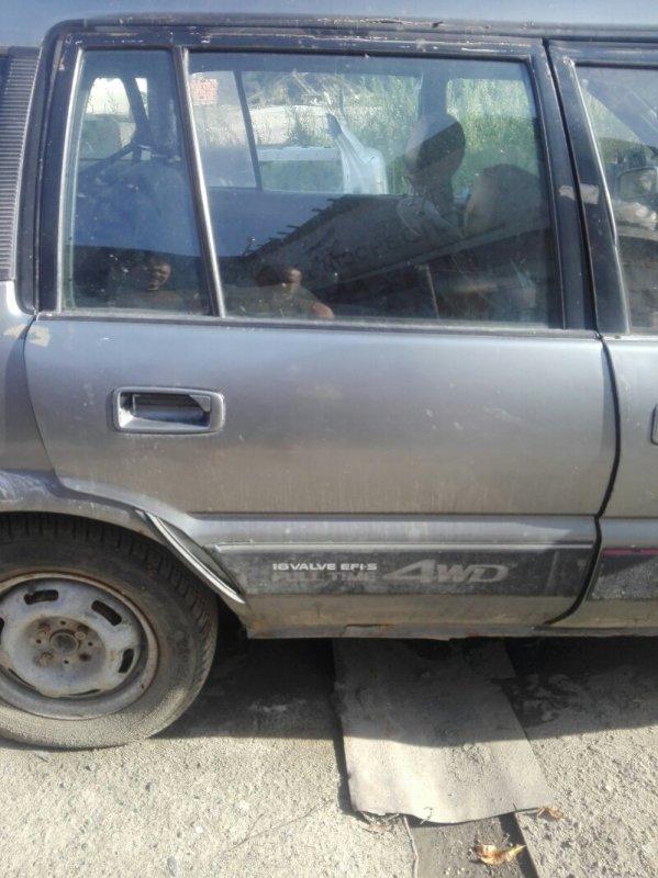 Дверь боковая Toyota Sprinter Carib AE95 4A-FE 1989 задняя правая