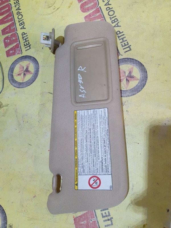 Козырек солнцезащитный Toyota Camry ASV50 2AR-FE 2011 правый