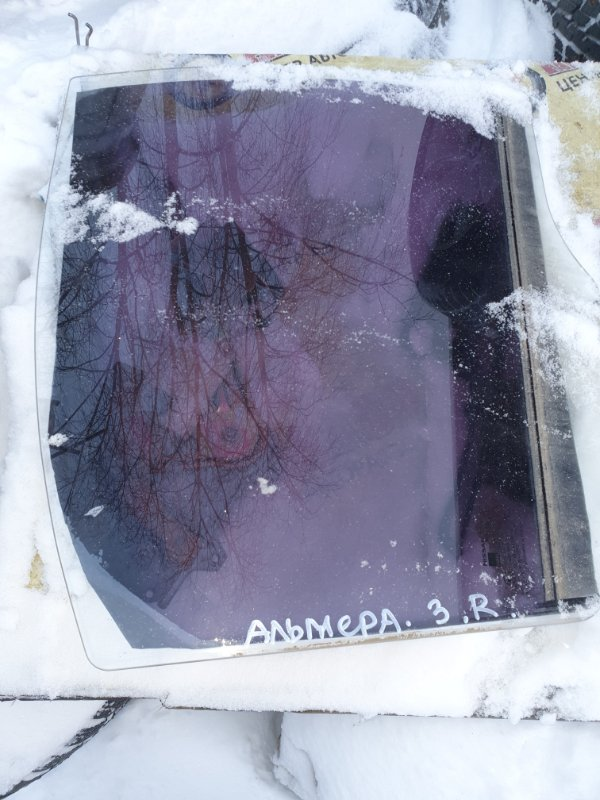 Боковое стекло Nissan Almera Classic B-10 QG-16DE 2007 заднее правое