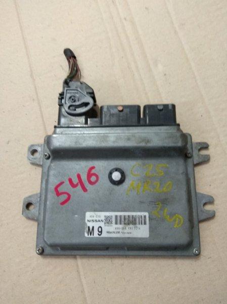 Блок управления двс Nissan Serena C25 MR20