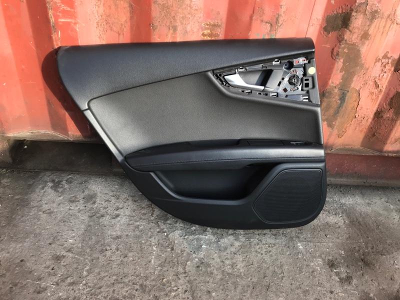 Обшивка двери Audi A7 2012 задняя левая