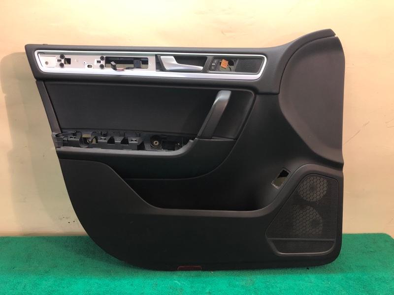 Обшивка двери Volkswagen Touareg NF CRC 3.0D 2014 передняя левая