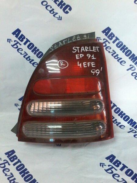 Стоп-сигнал Toyota Starlet EP91 4EFE 1989 задний правый