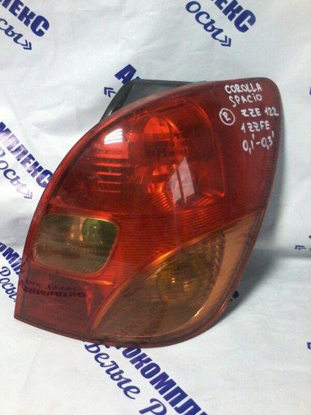 Стоп-сигнал Toyota Corolla Spacio ZZE122 1ZZFE 2001 задний правый