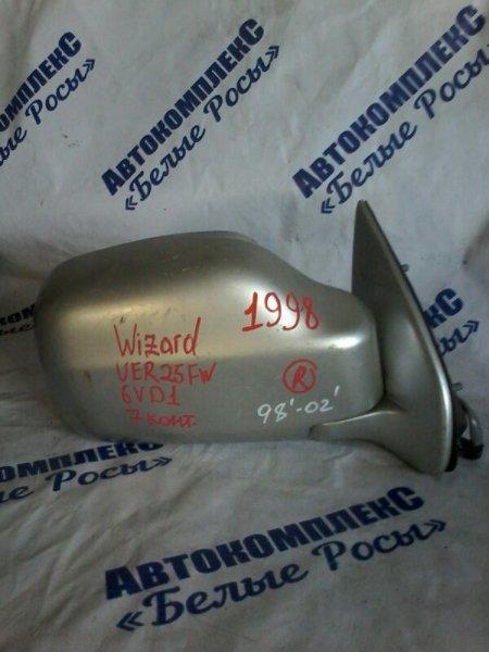 Зеркало Isuzu Wizard UER25FW 6VD1 1998 переднее правое