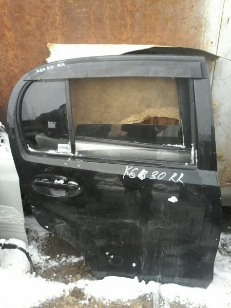 Дверь Toyota Passo KGC30 1KR 2004 задняя правая