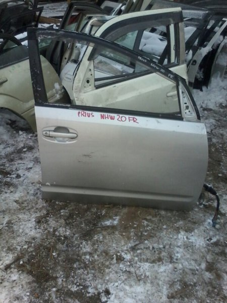Дверь Toyota Prius NHW20 1NZFXE 2003 передняя правая