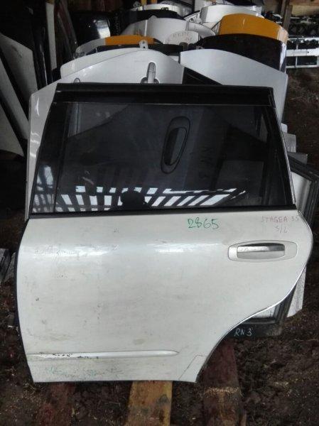 Дверь Nissan Stagea WGNC34 RB25DE 1998 задняя левая