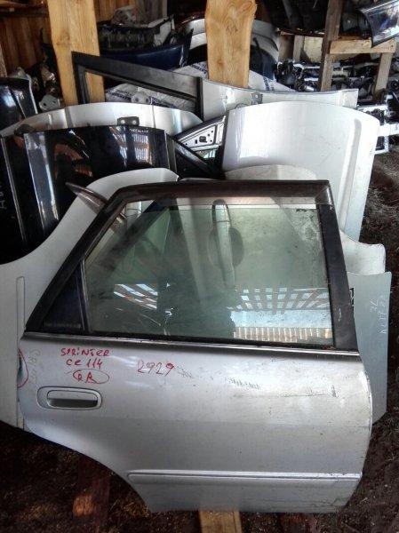 Дверь Toyota Sprinter CE114 2C 1995 задняя правая
