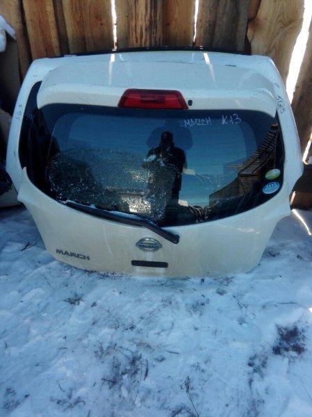 Дверь багажника Nissan March K13 HR12DE 2005 задняя