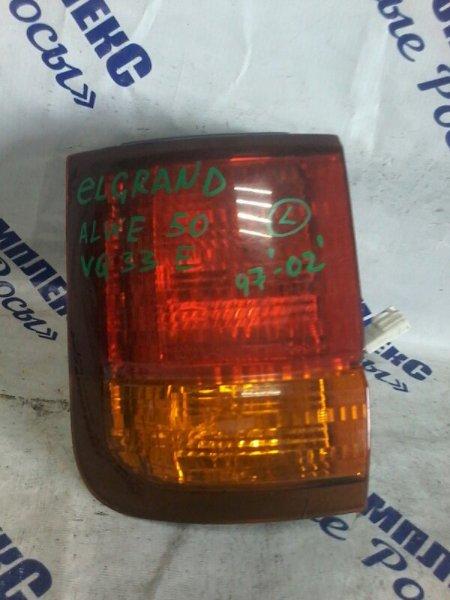 Стоп-сигнал Nissan Elgrand ALWE50 VQ33E 1997 задний левый