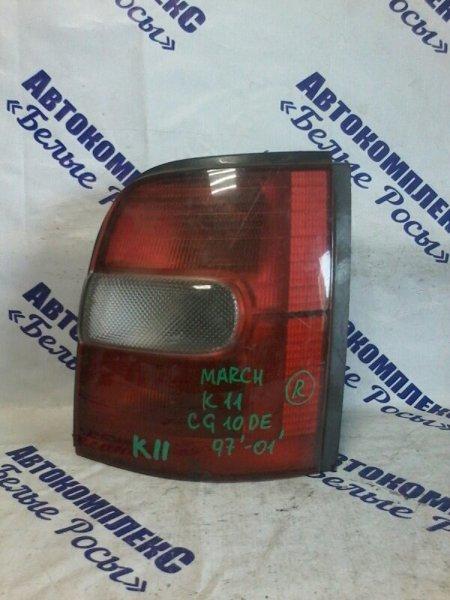 Стоп-сигнал Nissan March K11 CG10DE 1997 задний правый