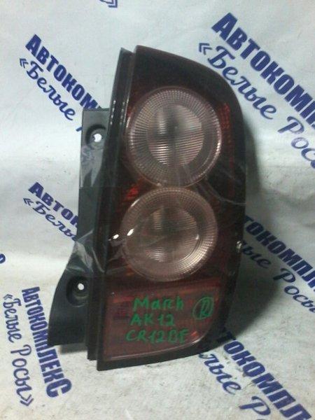 Стоп-сигнал Nissan March AK12 CR12DE 2002 задний правый
