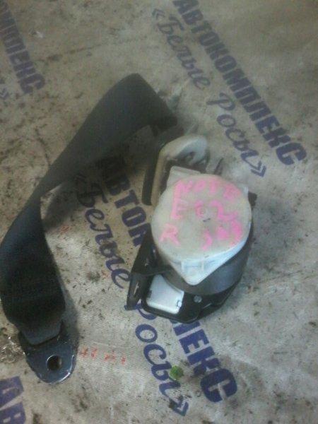 Ремень безопасности Nissan Note E12 HR12 2012 задний правый