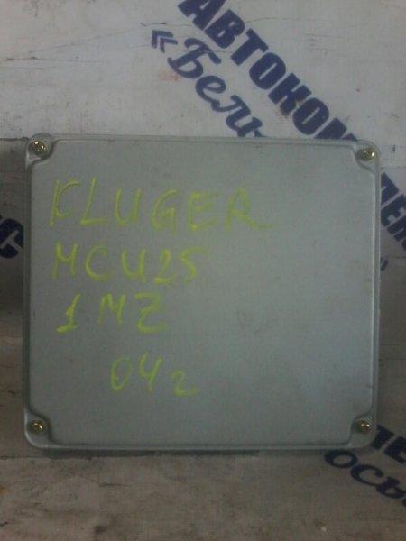 Блок управления двигателем Toyota Kluger MCU25 1MZ 1998 передний