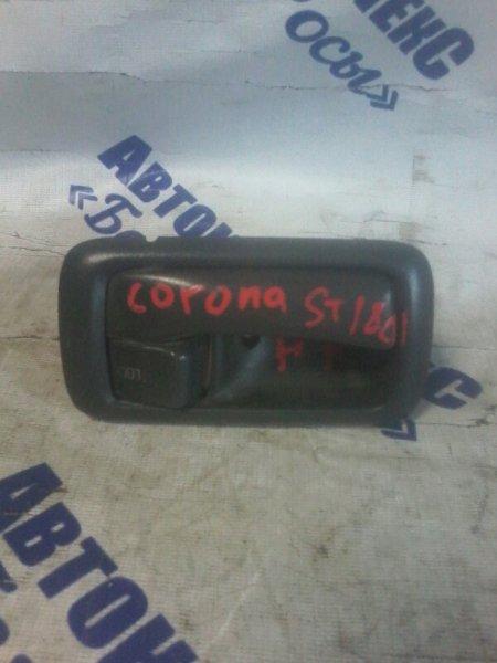 Ручка двери внутренняя Toyota Corona ST180 4SFE 1989 передняя правая