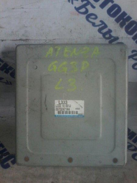 Блок управления двигателем Mazda Atenza GG3P L3VDT 2004 передний