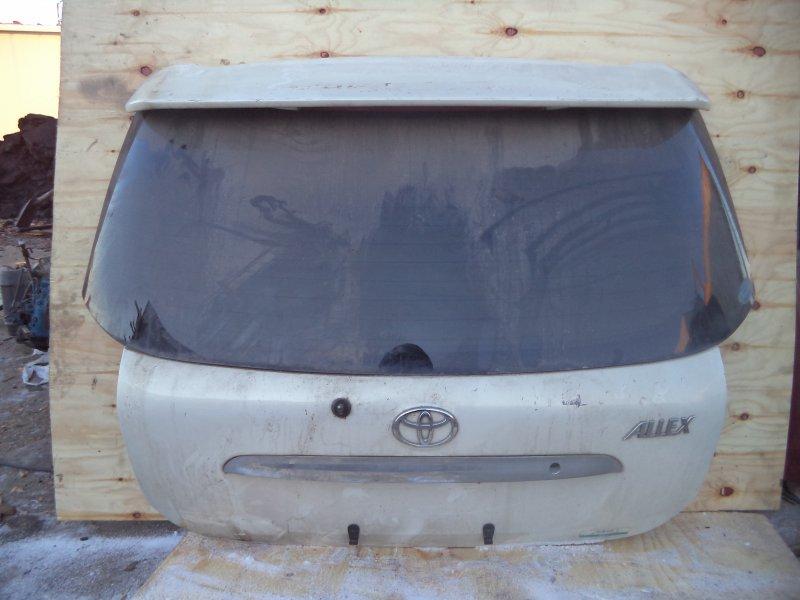 Дверь багажника Toyota Allex NZE121 1NZFE задняя