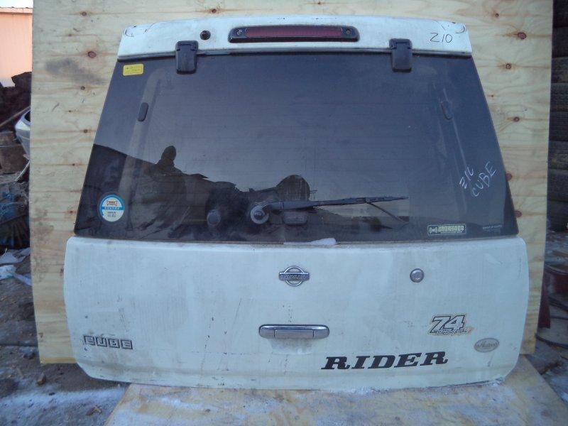 Дверь багажника Nissan Cube Z10 CG13DE 1998 задняя