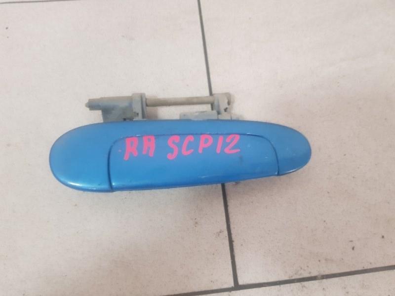 Ручка двери Toyota Platz SCP12 1SZFE 2000 задняя правая