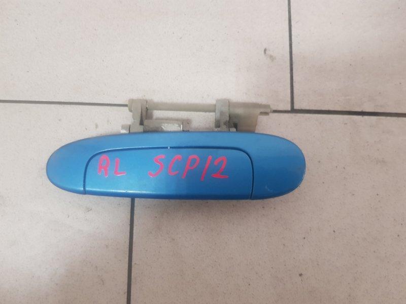 Ручка двери Toyota Platz SCP12 1SZFE 2000 задняя левая