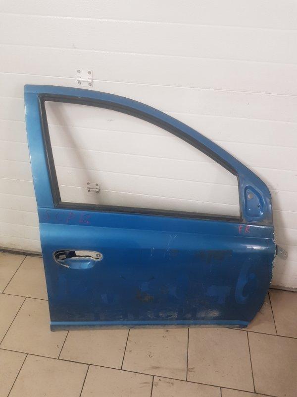 Дверь Toyota Platz SCP12 1SZFE 2000 передняя правая