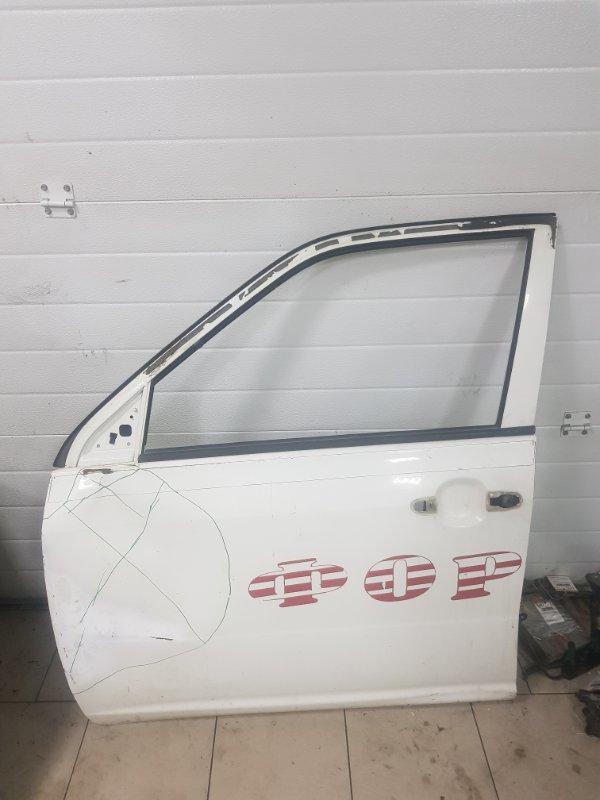Дверь Toyota Probox NCP50 2NZFE 2002 передняя левая