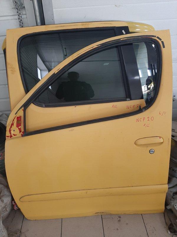 Дверь Toyota Funcargo NCP21 1NZFE 2000 передняя левая