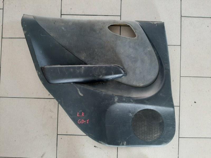 Обшивка двери Honda Fit GD1 L13A 2001 задняя левая