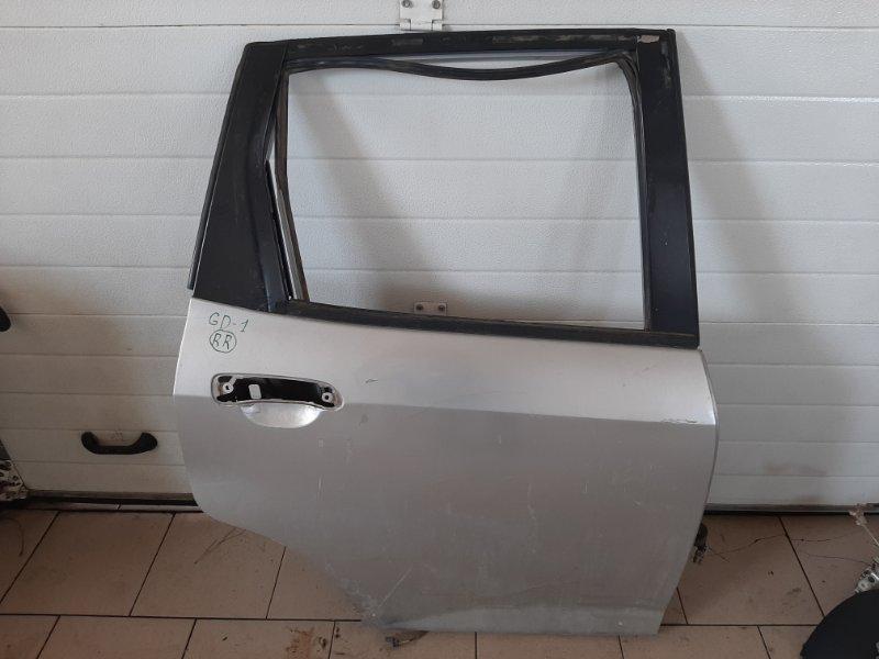 Дверь Honda Fit GD1 L13A 2001 задняя правая