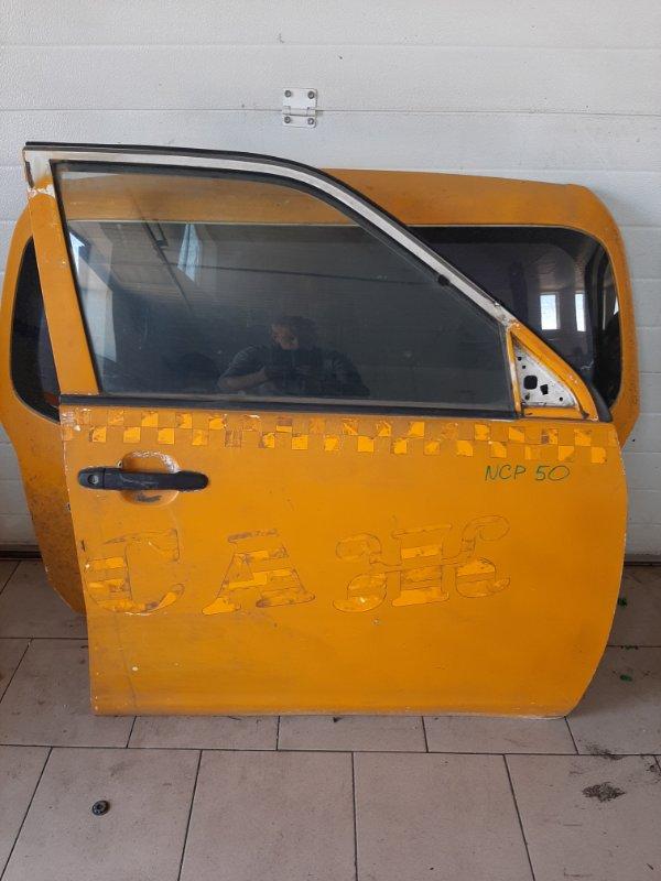 Дверь Toyota Probox NCP50 2NZFE 2002 передняя правая
