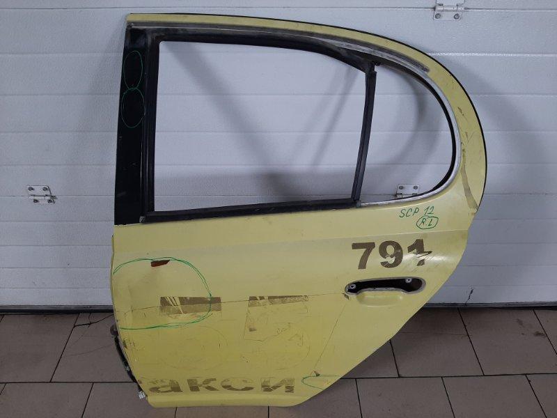 Дверь Toyota Platz SCP12 1SZFE 2000 задняя левая