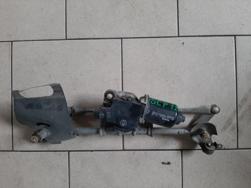 Механизм стеклоочистителя Toyota Platz SCP12 1SZFE 2000 передний