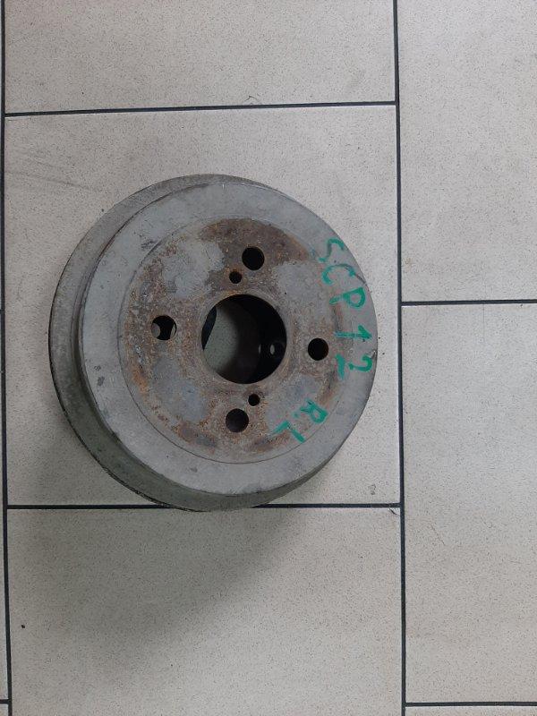Тормозной барабан Toyota Platz SCP12 1SZFE 2000 задний левый