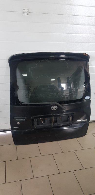 Дверь багажника Toyota Funcargo NCP21 1NZFE 2000 задняя