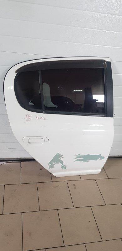 Дверь Toyota Vitz SCP10 1SZFE 2000 задняя правая