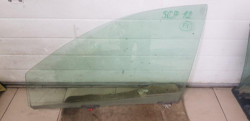 Стекло двери Toyota Platz SCP11 1SZFE 2000 переднее левое