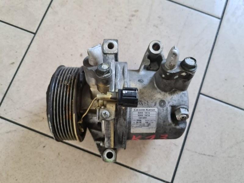 Компрессор кондиционера Nissan K13 HR12DE 2005 передний