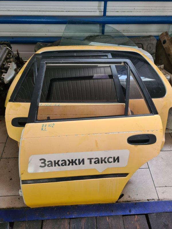 Дверь Toyota Corolla EE102 4EFE 1992 задняя левая