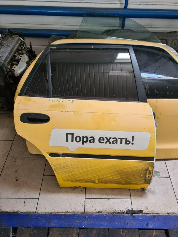Дверь Toyota Corolla EE102 4EFE 1992 задняя правая