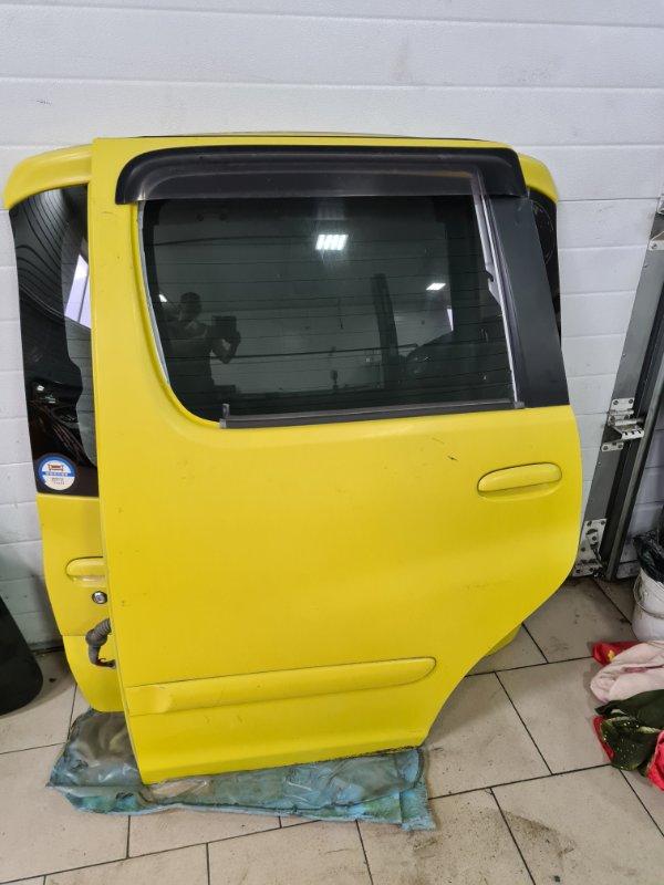 Дверь Toyota Funcargo NCP21 1NZFE 2000 задняя левая