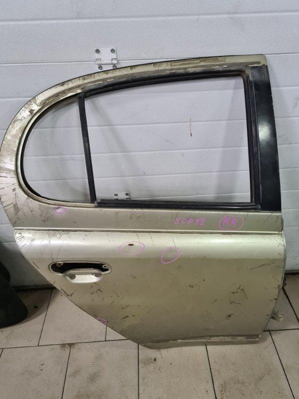 Дверь Toyota Platz SCP12 1SZFE 2000 задняя правая