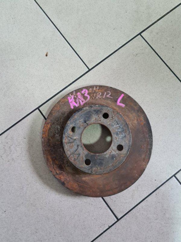 Тормозной диск Nissan March K13 HR12DE 2010 передний левый