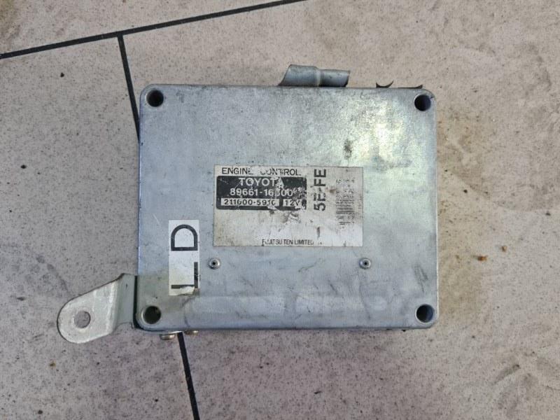 Блок управления двигателем Toyota Caldina ET196 5EFE 1992 передний