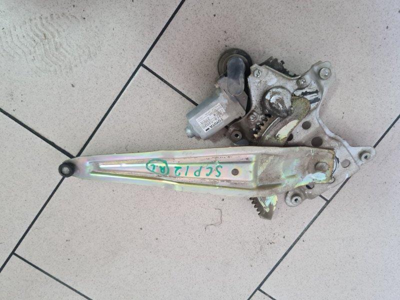Стеклоподъемник Toyota Platz SCP12 1SZFE 2000 задний левый