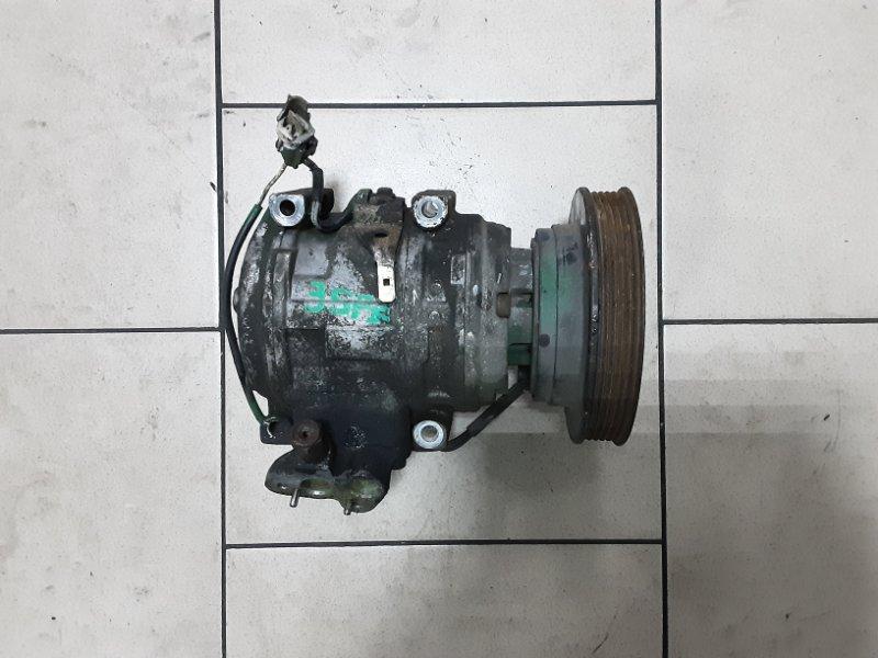 Компрессор кондиционера Toyota Caldina ST190 3SFE 1996 передний
