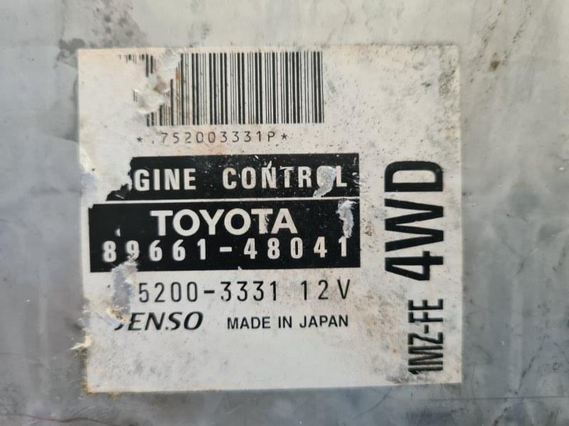 Блок управления двигателем Toyota Harrier MCU15 1MZFE 1998 передний