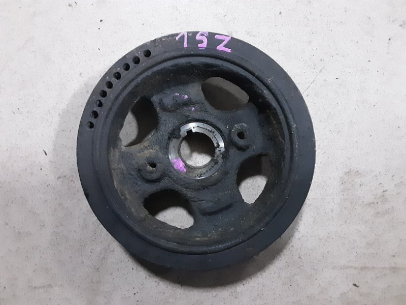 Шкив коленвала Toyota Vitz SCP10 1SZFE 2000 передний