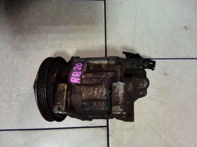 Компрессор кондиционера Nissan Laurel HC35 RB20DE 1998 передний