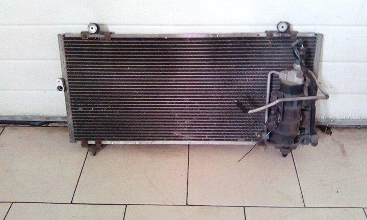 Радиатор кондиционера Toyota Raum EXZ10 5EFE 1997 передний